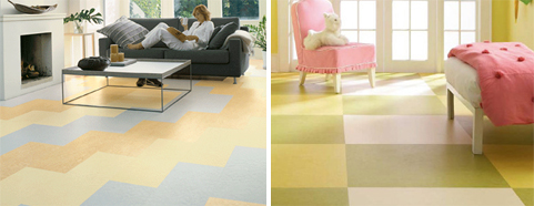 Linoleum offers unlimited color, pattern and design options - available at Benson's Interiors in Corvallis.
