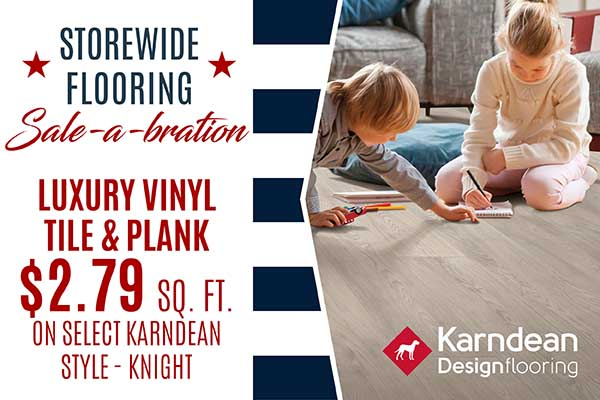 LUXURY VINYL ON SALE  KARNDEAN  STYLE - KNIGHT  $2.79 SQ. FT.